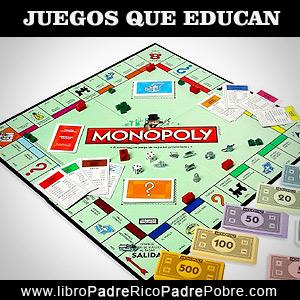 Juegos que educan financieramente: Monopoly, bienes raíces.