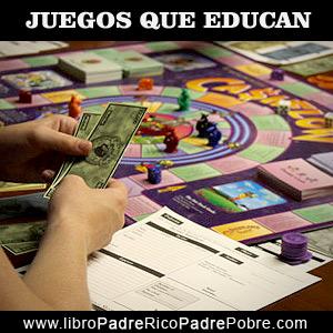 Juegos que educan financieramente: Cashflow 101, 102, Kids.