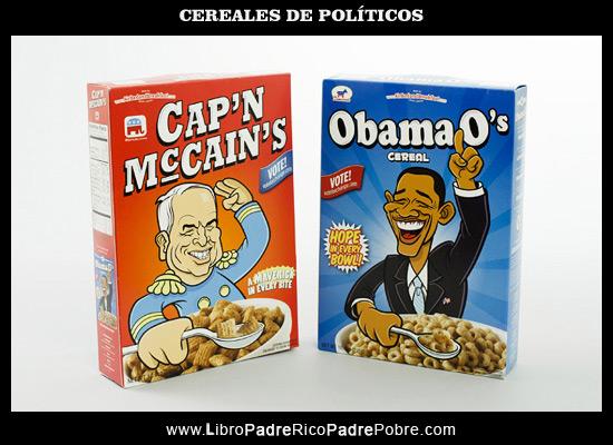 Cómo hacer dinero sin dinero: Cereales de políticos.